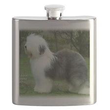 Old English Sheepdog 9F054D-18 Flask