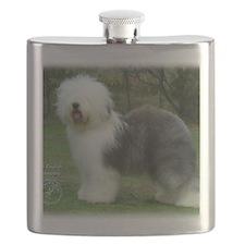 Old English Sheepdog 9F054D-17 Flask