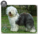 Old english sheepdog christmas Puzzles
