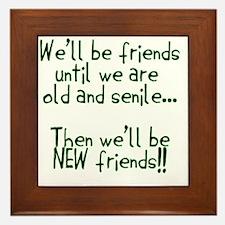 Well be friends png Framed Tile
