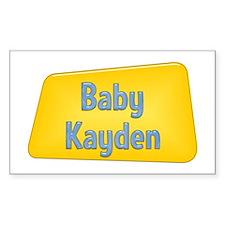 Baby Kayden Rectangle Decal