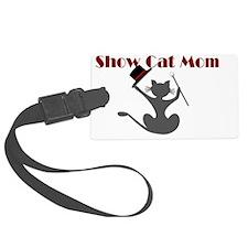 Show Cat Mom Oval Sticker Luggage Tag