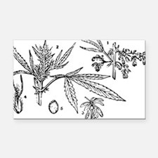 hemp Rectangle Car Magnet