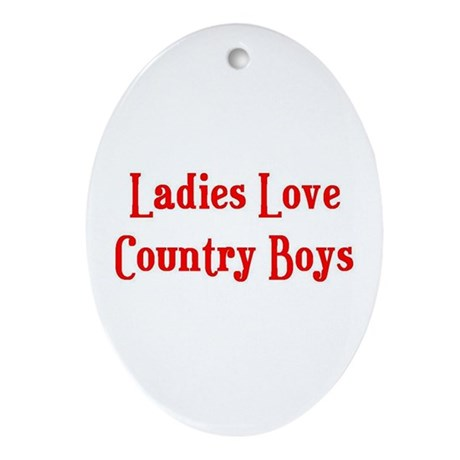 Country Boys Oval Ornament