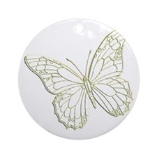 embossedbutterfly Round Ornament