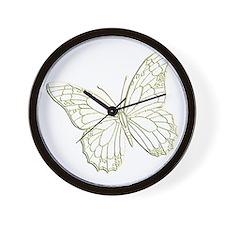 embossedbutterfly Wall Clock