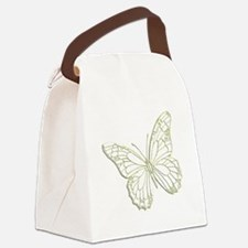 embossedbutterfly Canvas Lunch Bag
