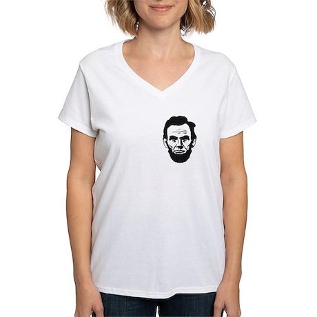 I-love-ABE-W Women's V-Neck T-Shirt