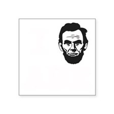 "I-love-ABE-W Square Sticker 3"" x 3"""