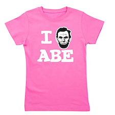 I-love-ABE-W Girl's Tee
