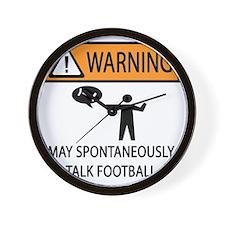 TALK FOOTBALL Wall Clock
