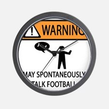 TALK FOOTBALL Wall Clock