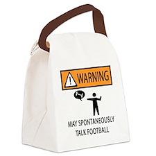 TALK FOOTBALL Canvas Lunch Bag