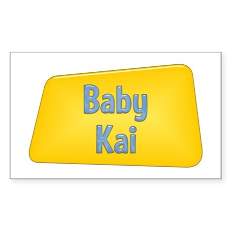 Baby Kai Rectangle Sticker
