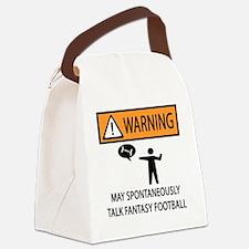 TALK FANTASY FOOTBALL Canvas Lunch Bag