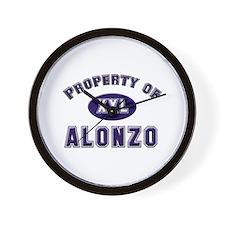 Property of alonzo Wall Clock