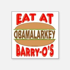 """Eat at Barry Os 12 Square Sticker 3"""" x 3"""""""