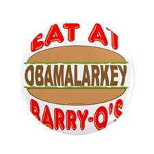 """Eat at Barry Os 12 3.5"""" Button"""