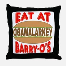 Eat at Barry Os 12 Throw Pillow