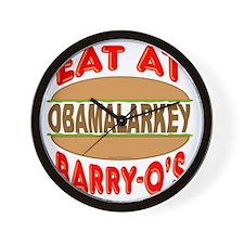 Eat at Barry Os 12 Wall Clock