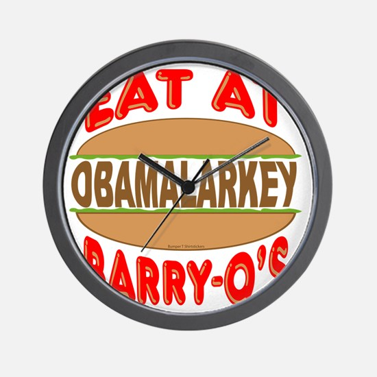 Eat at Barry Os 12 Wall Clock