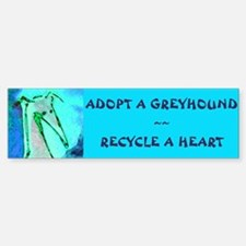 Recycle a Heart Bumper Bumper Bumper Sticker