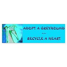 Recycle a Heart Bumper Car Car Sticker