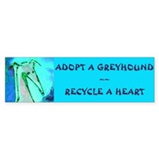 Recycle a Heart Bumper Car Sticker