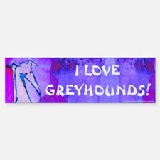 Blue Art GH Bumper Bumper Bumper Sticker