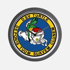 US Navy Deep Submergence Vehicle Patch  Wall Clock