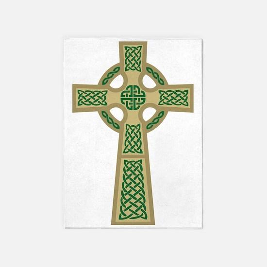 Celtic Cross (Gold) 5'x7'Area Rug