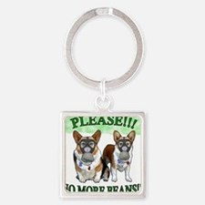 Please NO BEANS Square Keychain