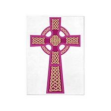 Celtic Cross (Pink) 5'x7'Area Rug