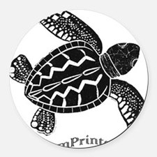 Sea Turtle Round Car Magnet