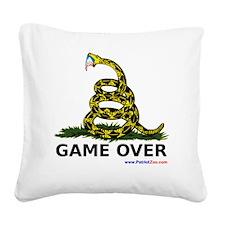 GameOverwhiteXLargewww Square Canvas Pillow