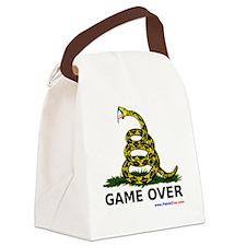GameOverwhiteXLargewww Canvas Lunch Bag