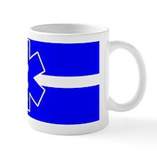 blue line with star Mug