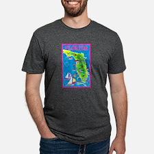 Florida Map Greetings T-Shirt