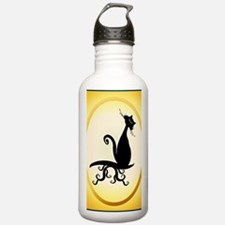 ornament_ovalBlack Kit Water Bottle