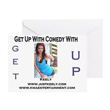 get up radio template just keely Greeting Card