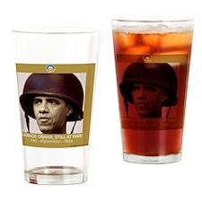 10x10_shirt_obama_war Drinking Glass