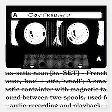 """cassette_03 Square Car Magnet 3"""" x 3"""""""