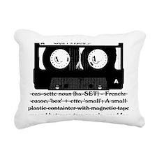 cassette_03 Rectangular Canvas Pillow