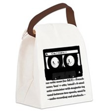 cassette_03 Canvas Lunch Bag