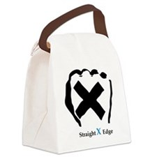 Straight Edge Closed Fist Canvas Lunch Bag