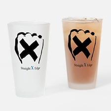 Straight Edge Closed Fist Drinking Glass