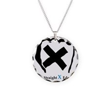Straight Edge Closed Fist Necklace