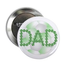 "Green Soccer Dad 2.25"" Button"