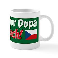 Bet Your Dupa Czech Sticker Small Mug