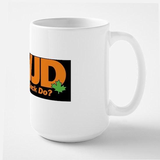 WWJD-BS_black Large Mug